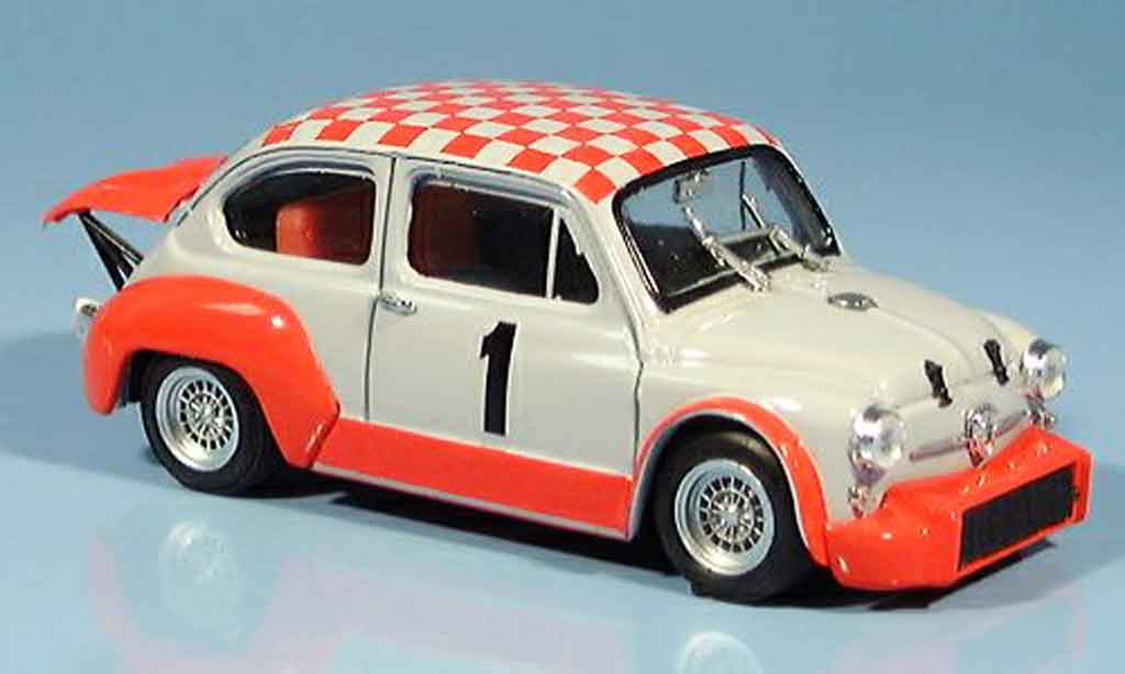 Fiat Abarth 1000 1/43 Brumm Gr. 2 70 No. 1 Coppa Carri Monza 1970 miniature