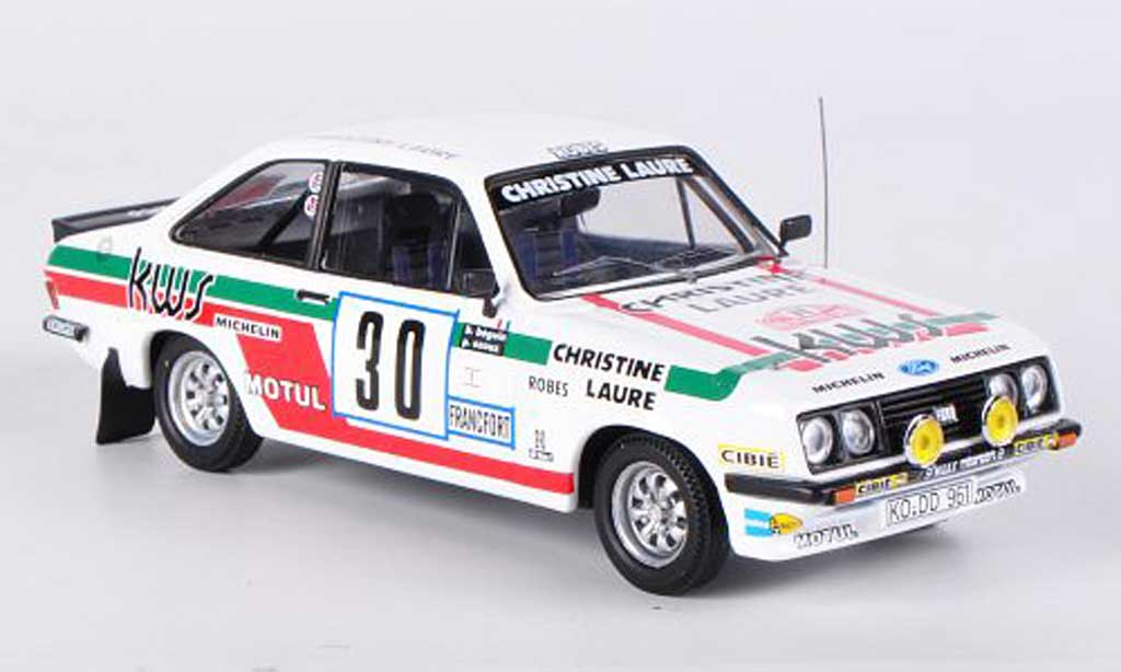 Ford Escort RS 2000 1/43 Trofeu MKNo.30 KWS Beguin/Ozoux Rally Monte Carlo 1979 miniature