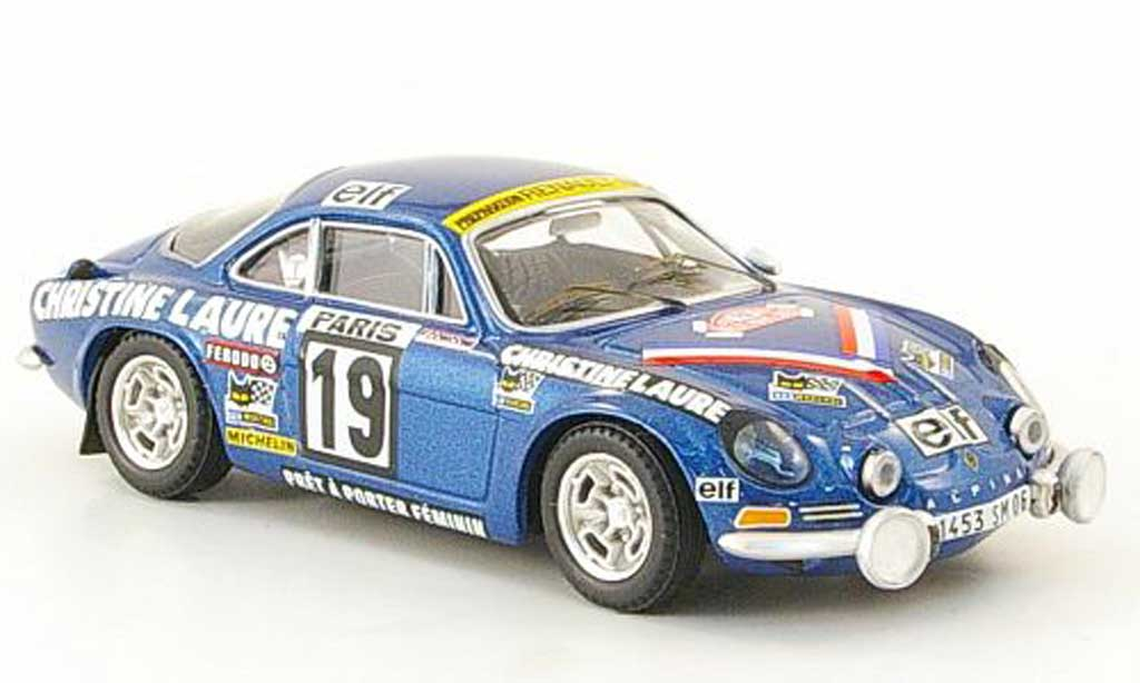 Alpine A110 1/43 Trofeu Coupe d Dames M. Mouton-Conconi diecast model cars