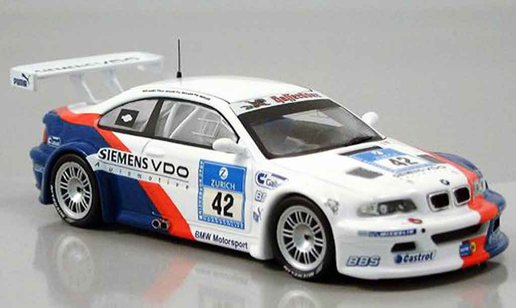 Bmw M3 E46 1/43 IXO GTR No. 42 Stuck Said Duel Nurburgring 2004 miniature