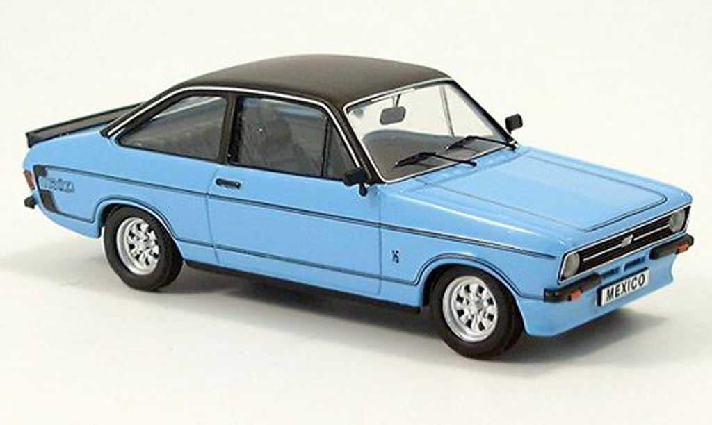 Ford Escort MK2 1/43 Trofeu Mexico bleue/noire miniature