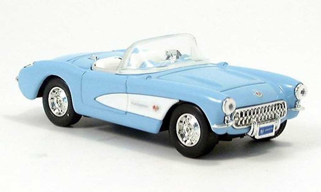 Chevrolet Corvette C1 1/43 Yat Ming bleu/white Cabriolet 1957 diecast model cars