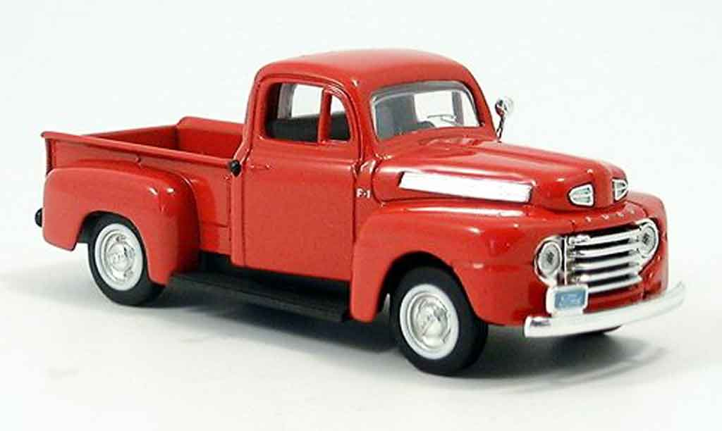 Ford F1 Pick Up 1/43 Yat Ming rouge 1948 miniature