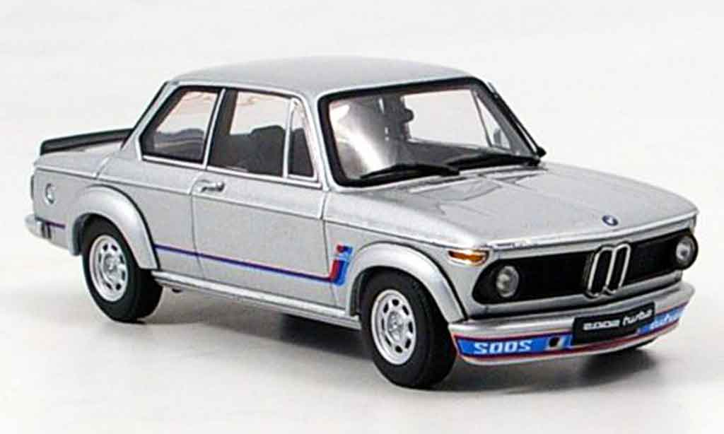 Bmw 2002 Turbo 1/43 Autoart grise metallisee 1973 miniature