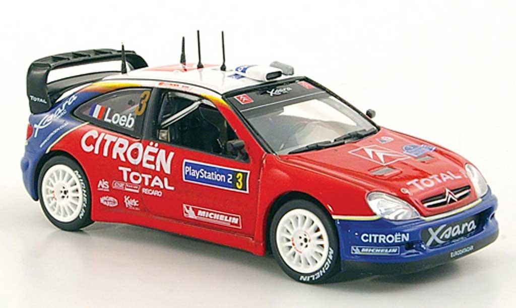 Citroen Xsara WRC 2004 1/43 Norev No.3 S.Loeb / D.Elena Tour de Corse miniature
