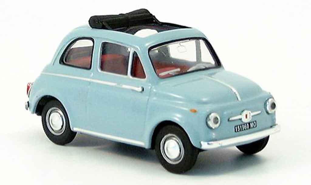 Fiat 500 1/43 Vitesse D bleu modellautos