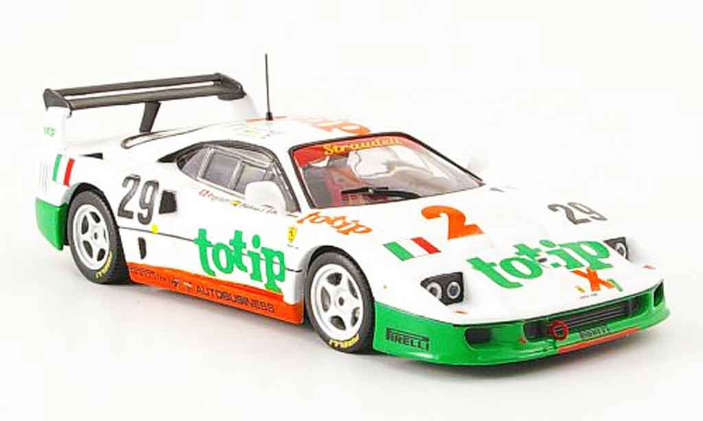 Ferrari F40 LM 1/43 IXO racing no. 29 totip 1985 miniature
