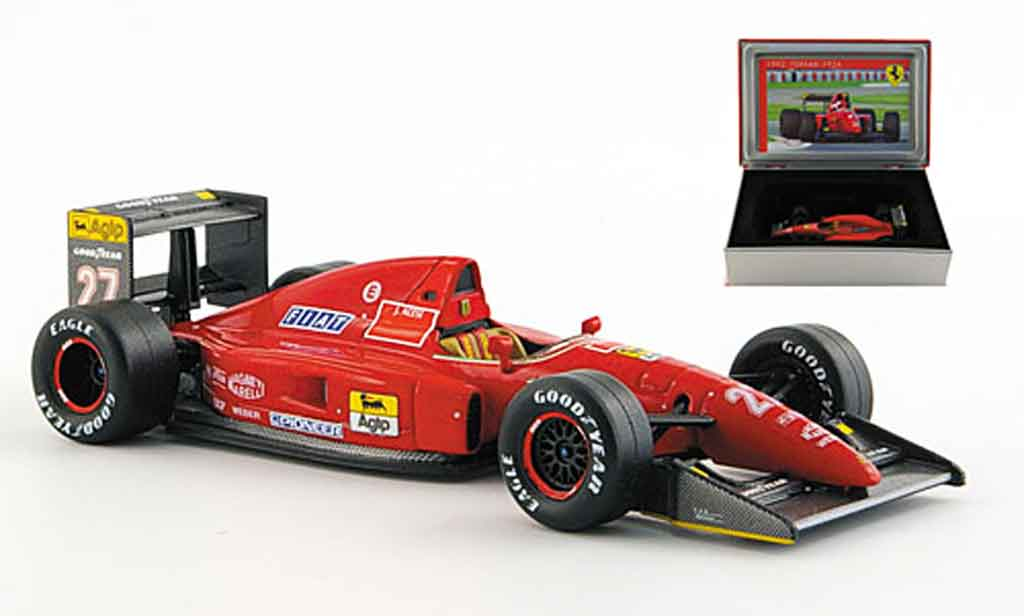 Ferrari F1 1/43 IXO f 92 a no.27 j.alesi gp frankreich 1992 miniature