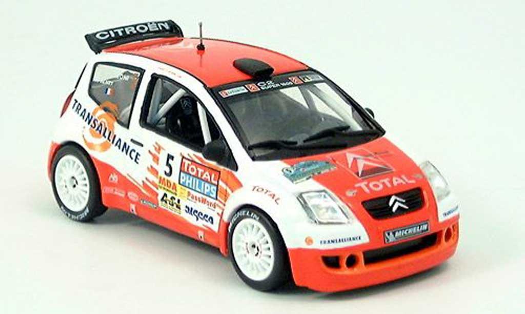 Citroen C2 S1600 1/43 Norev No.5 Rally de Lyon miniatura