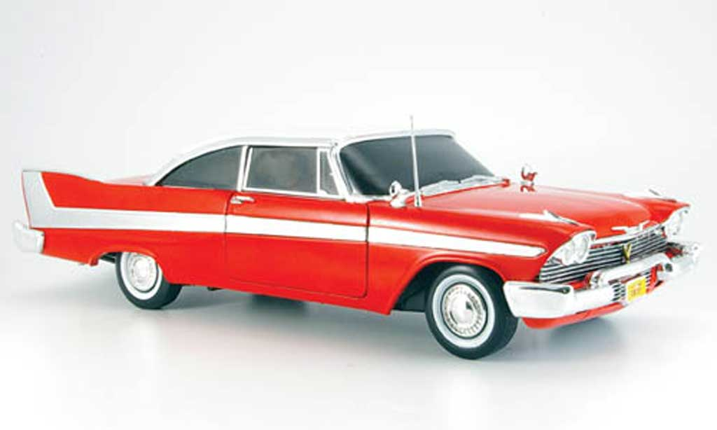 Plymouth Fury 1/18 Ertl rosso/bianca christine 1958 miniatura