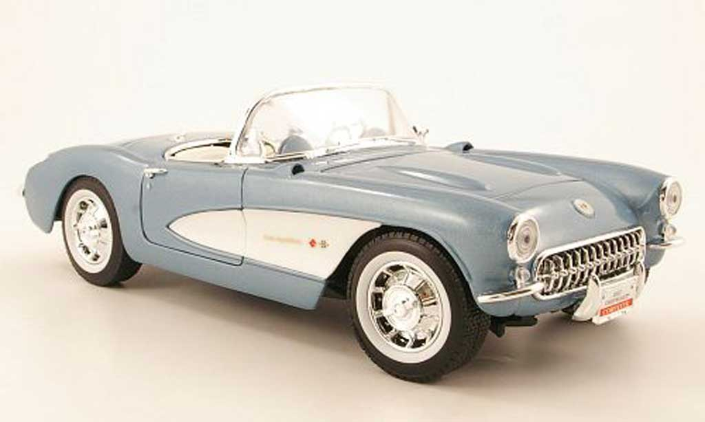 Chevrolet Corvette C1 1/18 Yat Ming bleu 1957 diecast model cars