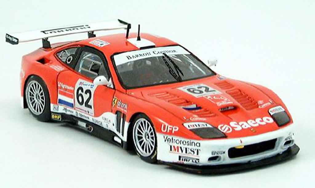 Ferrari 575 GTC 1/43 Red Line no.62 hezemans le mans 2004 miniature