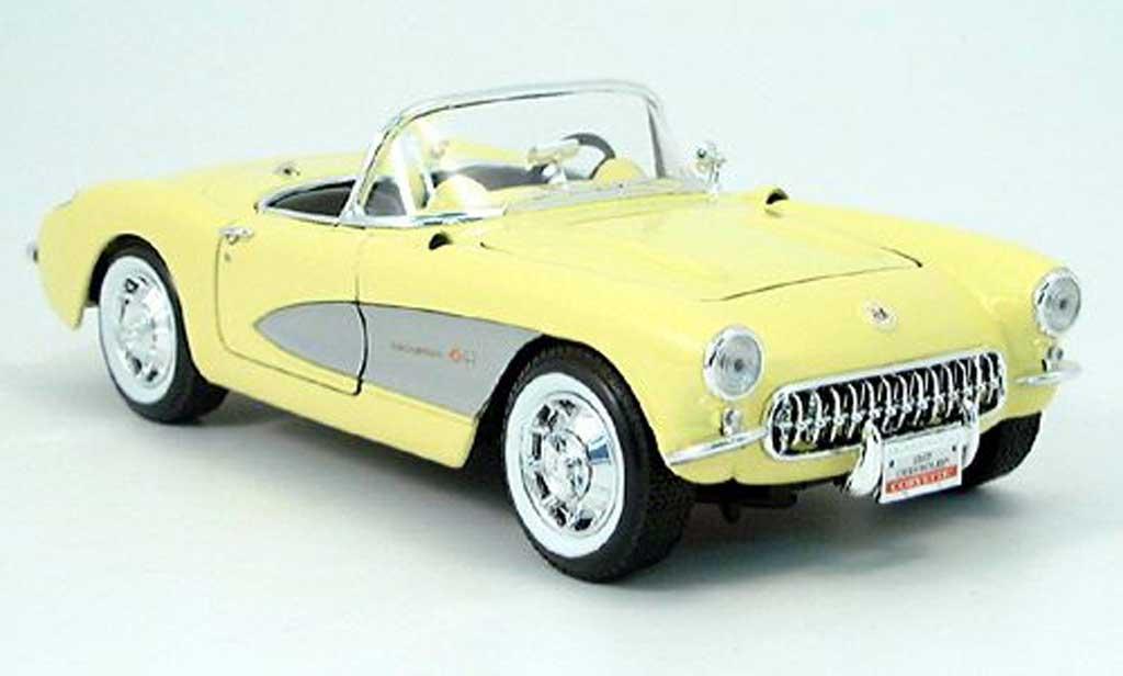 Chevrolet Corvette C1 1/18 Yat Ming yellow 1957 diecast
