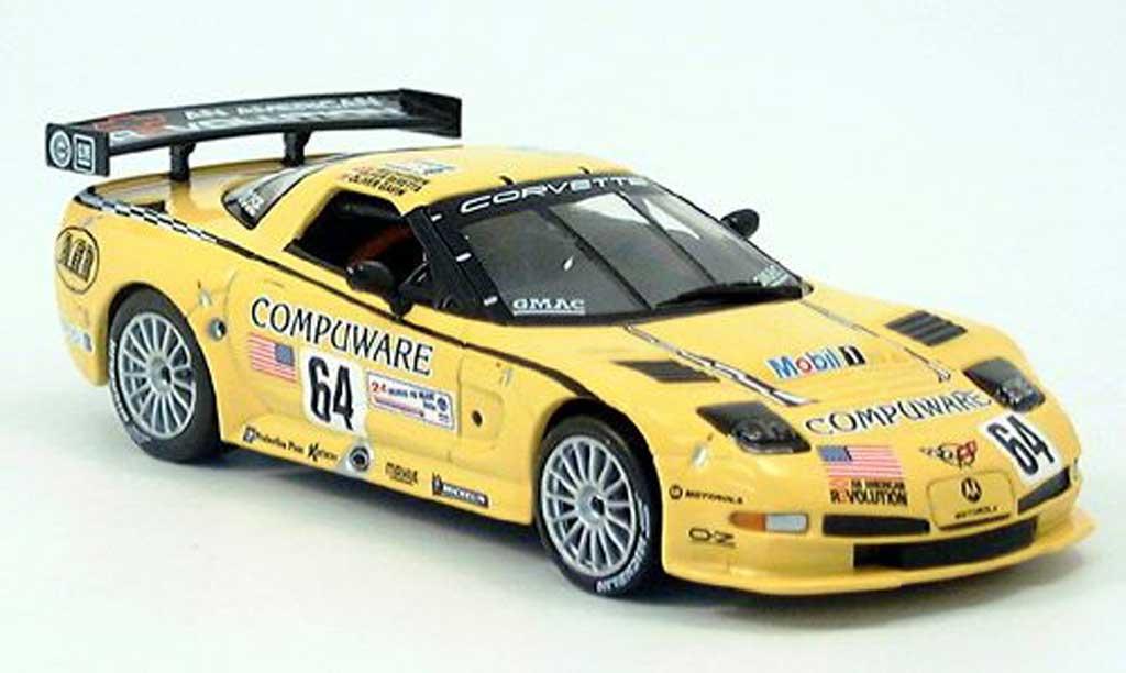 Chevrolet Corvette C5 1/43 IXO CR-5No. 64 Gavin-Beretta-Magnussen LM 2004 miniature