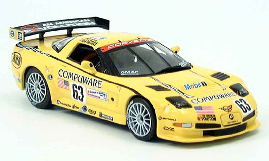 Chevrolet Corvette C5 1/43 IXO R No. 63 Le Mans 2004 diecast model cars