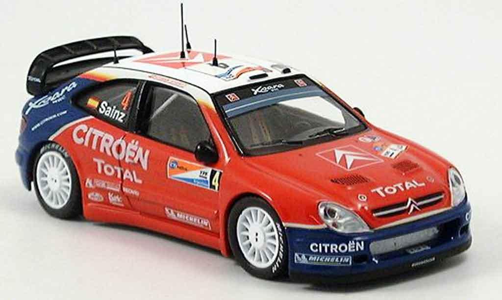 Citroen Xsara WRC 2004 1/43 IXO sainz martin sieger argentine miniature
