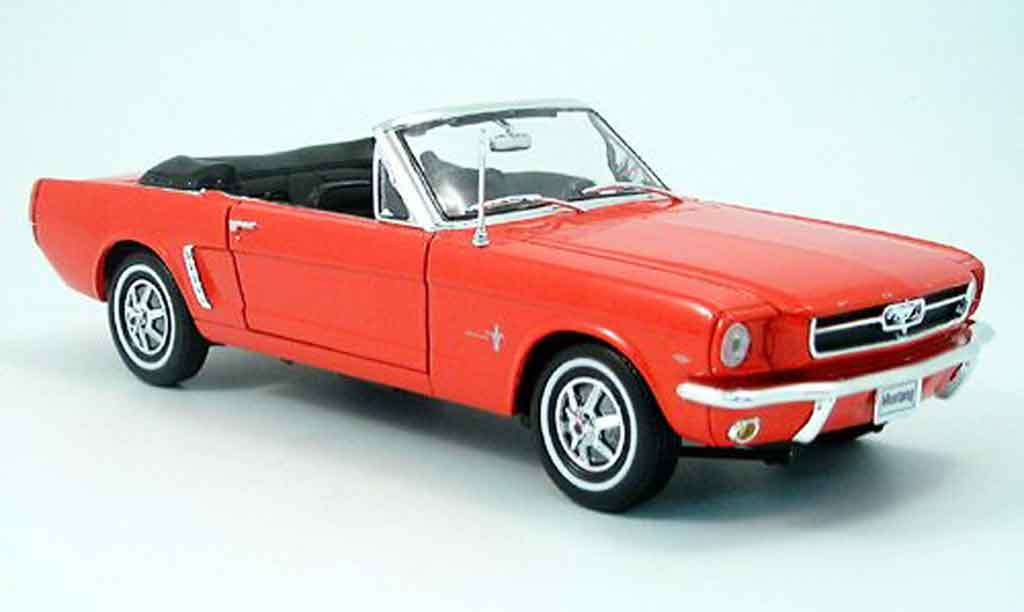 Ford Mustang 1964 1/18 Welly cabriolet rouge offen miniature