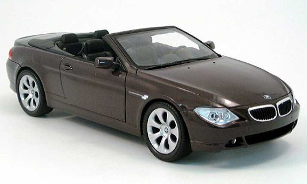 Bmw 645 E64 1/18 Welly ci cabriolet rouge 2004 miniature