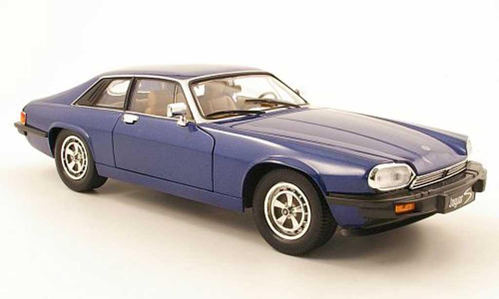 Jaguar XJS 1975 1/18 Yat Ming bleu miniature