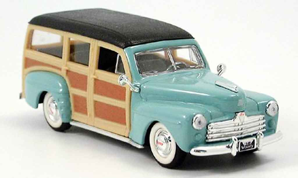 Ford Woody 1/43 Yat Ming grun 1948 miniature
