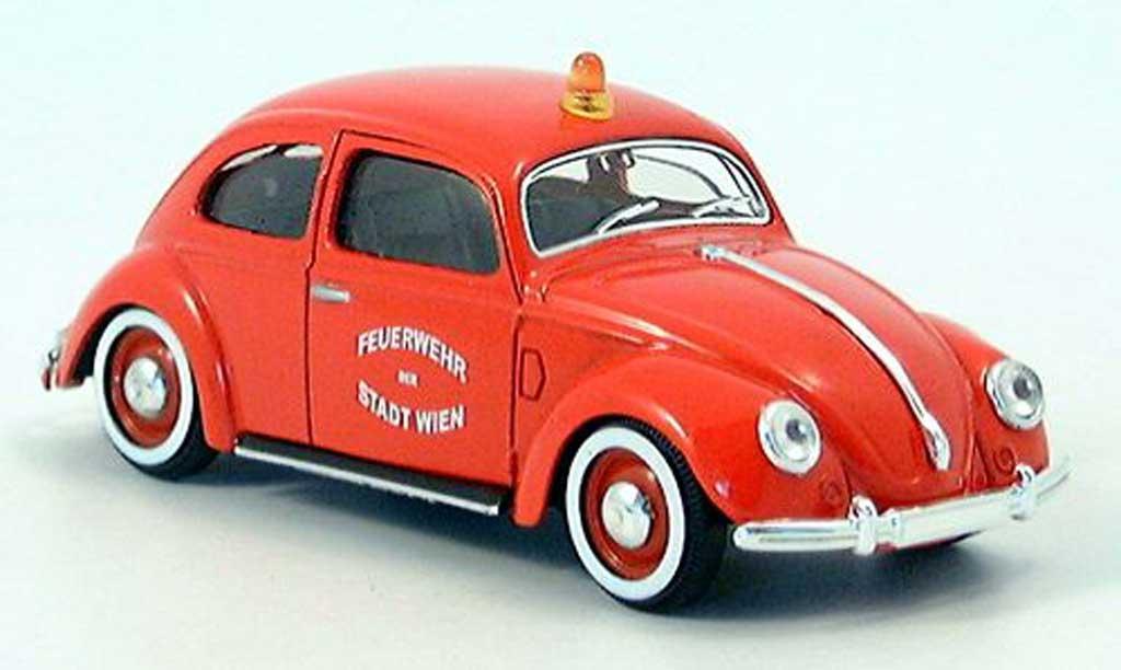 Volkswagen Kafer 1/43 Solido pompiers Wien miniature
