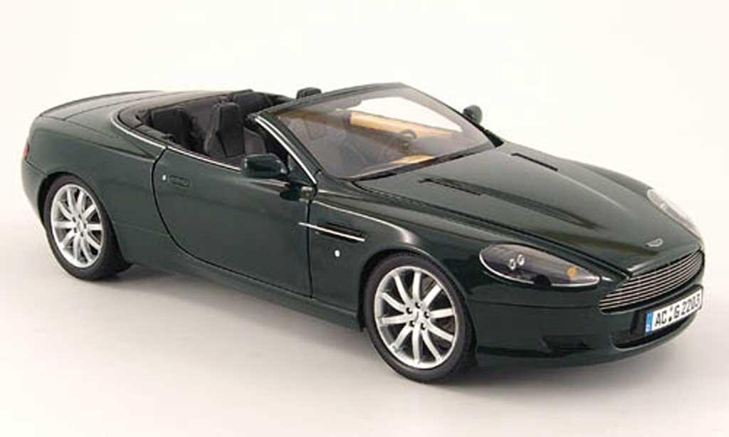 Aston Martin DB9 Volante 1/18 Minichamps green diecast