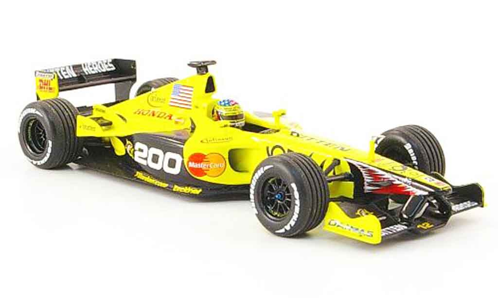 Honda F1 1/43 Minichamps Jordan Mugen EJ 11 Alesi 200. GP 2001 miniature