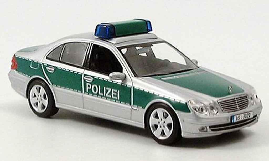 Mercedes Classe E 1/43 Minichamps police 2004 miniature
