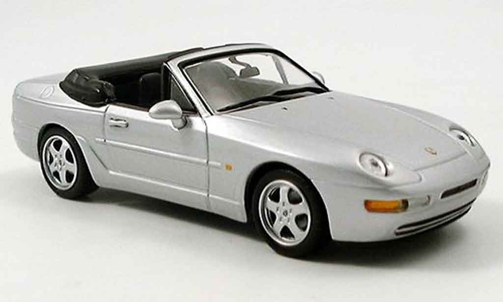 Porsche 968 Cabriolet 1/43 Minichamps grise metallisee 1994 miniature