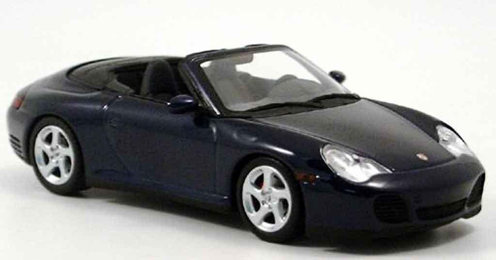 Porsche 996 Cabriolet 1/43 Minichamps 4S bleu 2003 diecast