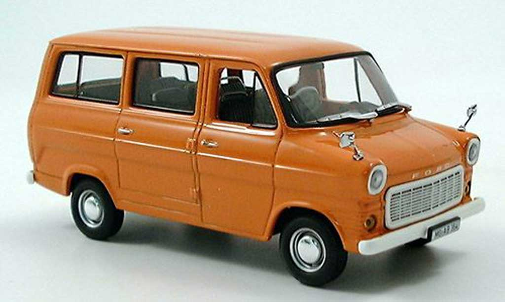 Ford Transit 1/43 Minichamps Bus orange 1971 miniature