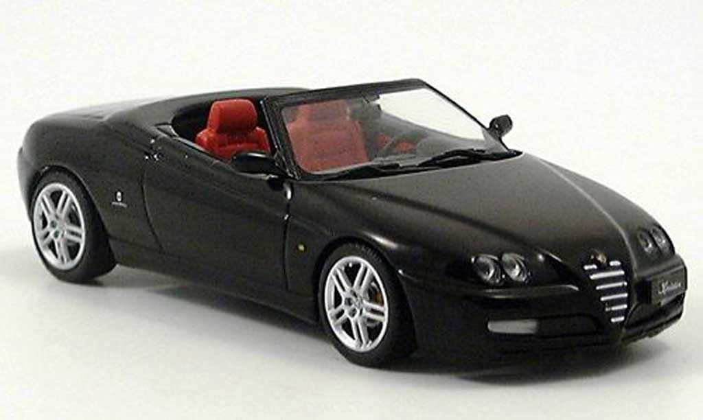 Alfa Romeo Spider 2003 1/43 Minichamps black diecast model cars