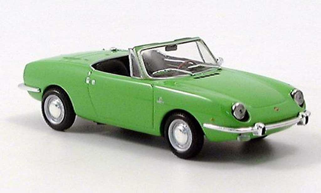 Fiat 850 1/43 Minichamps Sport Spider grun 1968 diecast model cars