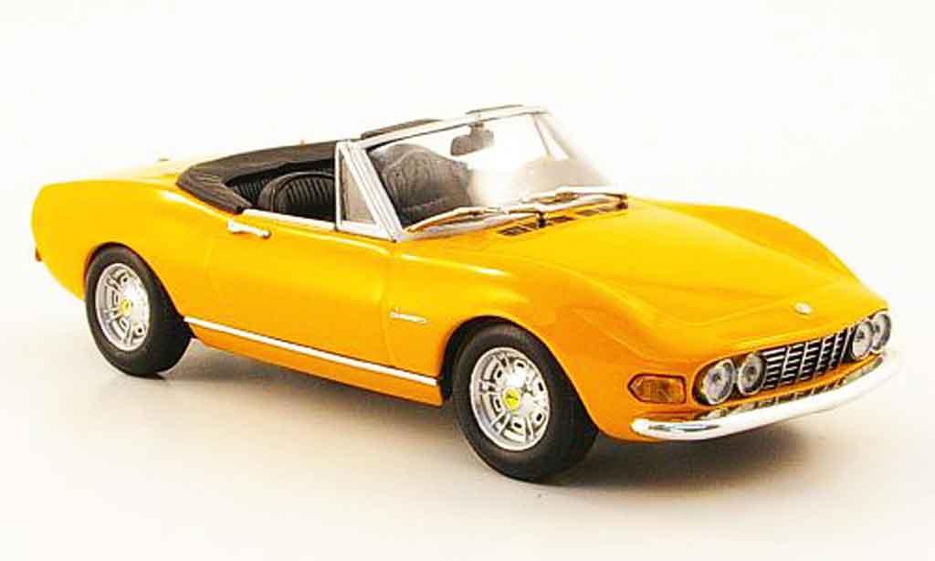 Fiat Dino 1/43 Minichamps Spider  jaune 1972 miniature