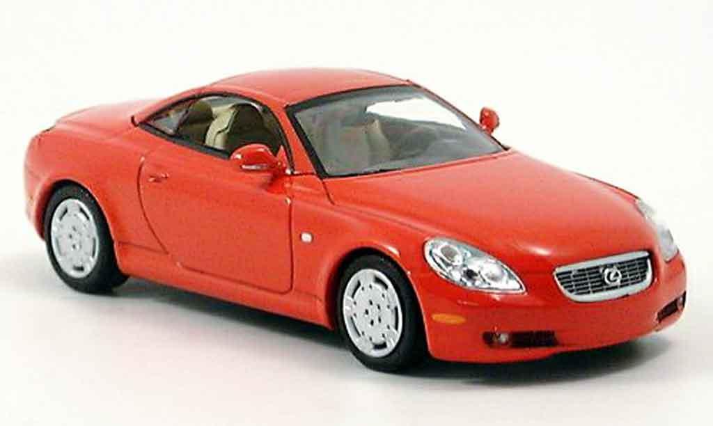 Lexus SC 430 1/43 Minichamps Cabriolet rouge 2001 miniature