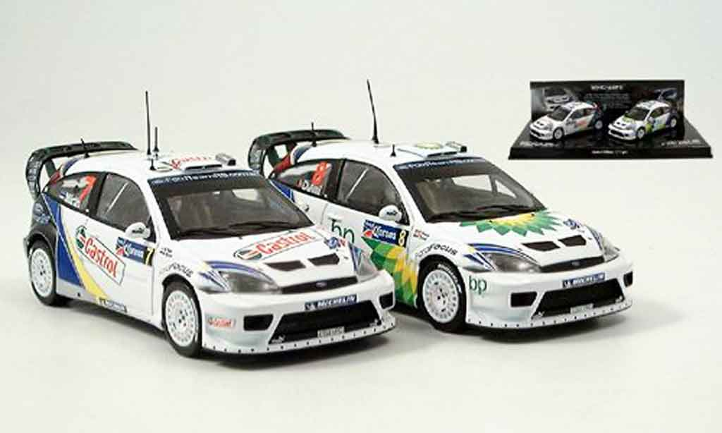 Ford Focus RS WRC 1/43 Minichamps Doppelsieg Mexico 2er Set 2004 miniature