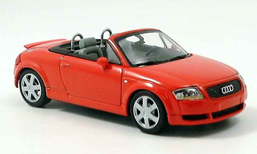 Audi TT Roadster 1/43 Minichamps red 1999 diecast model cars