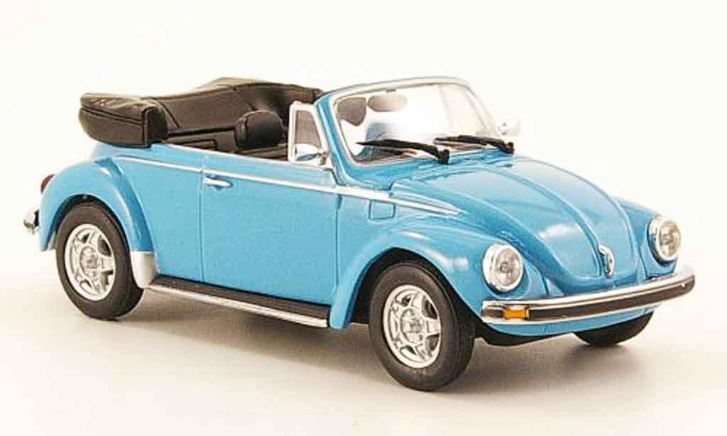 Volkswagen Coccinelle 1/43 Minichamps 1303 cabriolet bleu 1974 diecast