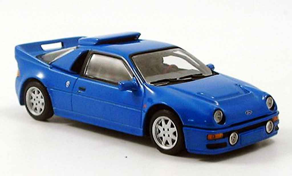 Ford RS 200 1/43 Minichamps bleu 1986 miniature