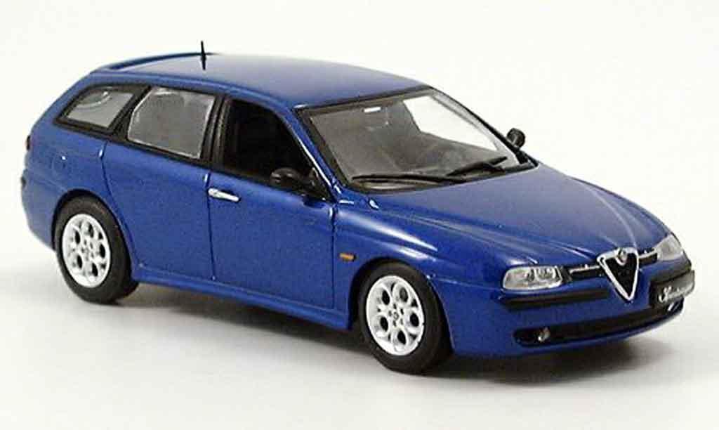 Alfa Romeo 156 1/43 Minichamps sportwagon bleu 2001 diecast model cars