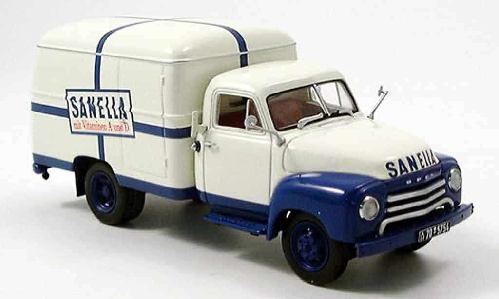 Opel Blitz 1/43 Minichamps 175 t koffer sanella diecast