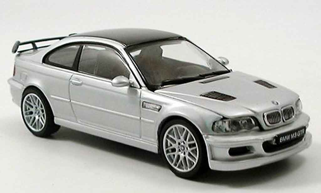 Bmw M3 E46 1/43 Kyosho GTR grey metallisee Strassenversion diecast model cars
