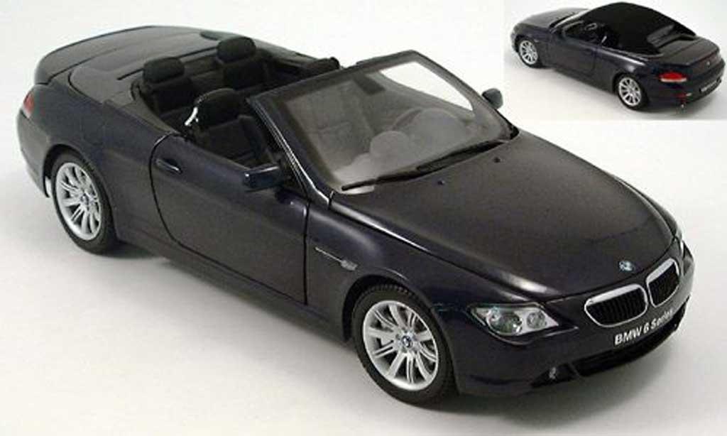 Bmw 645 E64 1/18 Kyosho ci cabriolet bleu fonc miniature
