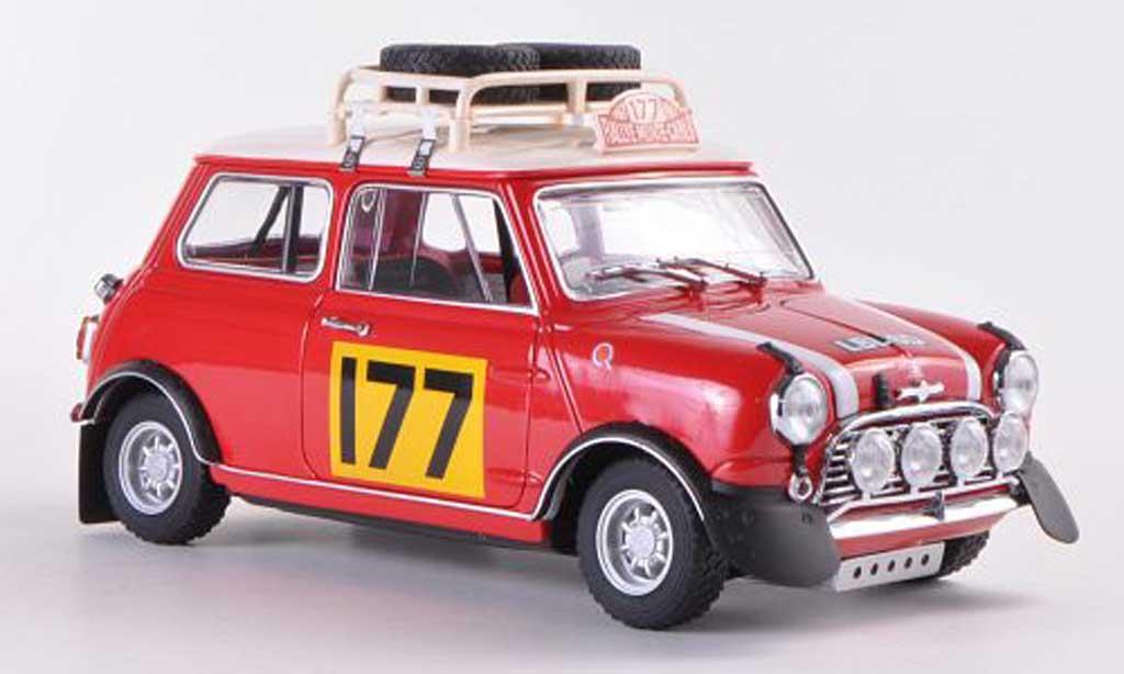 Austin Mini Rallye 1/18 Kyosho Cooper S Mk1 No.177 R.Aaltonen / H.Liddon Rally Monte Carlo  1967 miniature