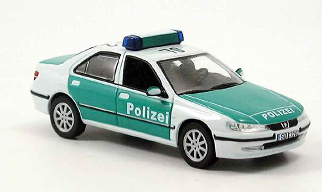Peugeot 406 1/43 Norev police miniature