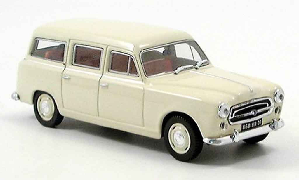 Peugeot 403 Break 1/43 Norev beige 1955 miniature