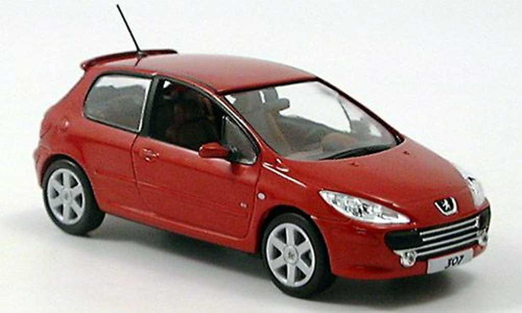 Peugeot 307 1/43 Norev rouge 3-portes Facelift