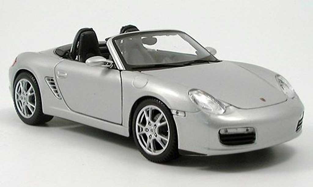 Porsche Boxster 1/18 Maisto (987) grise clair metallized 2005 miniature