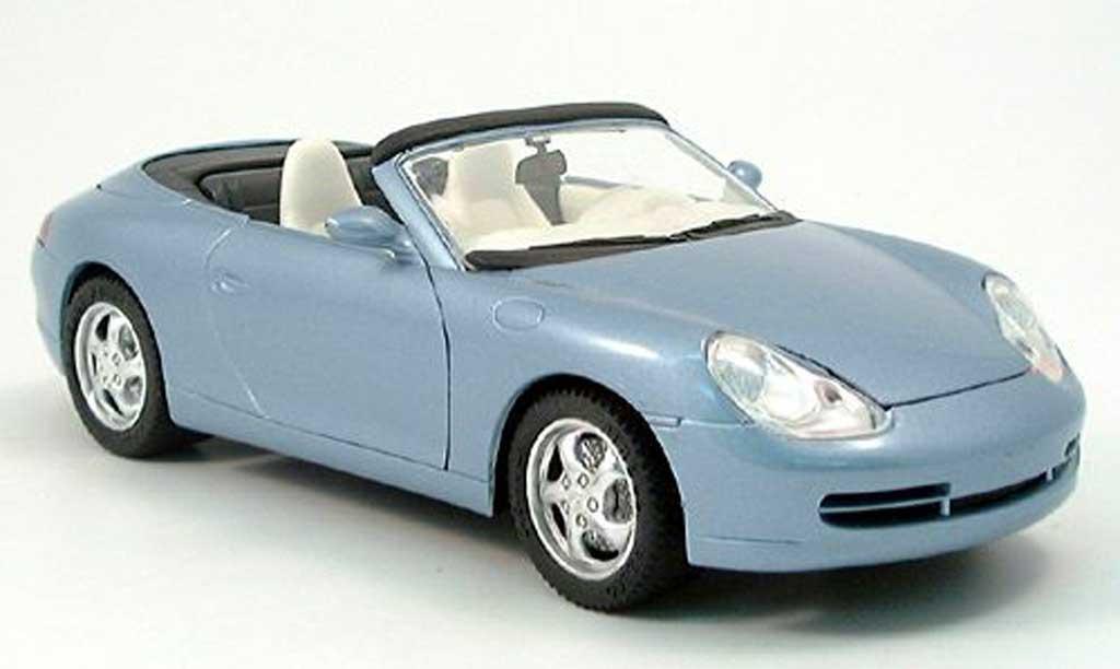 Porsche 996 Cabriolet 1/18 Solido Cabriolet bleu metallized 1998 diecast model cars