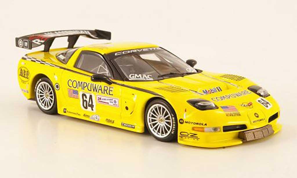 Chevrolet Corvette C5 1/43 Minichamps R GTS No.64 Compuware 24h Le Mans 2004 miniature